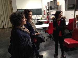 La M.Teresa, la Paloma i l'Ada al viver tecnològic